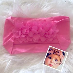 3/$10🎈Bubblegum Pink Floral Head Wrap Headband